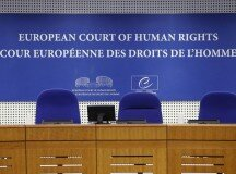 A view shows the courtroom of the European Court of Human Rights ahead of the start of an hearing concerning the case of Vincent Lambert in Strasbourg, January 7, 2015. Vincent Lambert, 38, a tetraplegic since a road traffic accident in 2008, is being maintained alive, receiving nutrition and hydration and is in a state of total medical dependence. The public hearing in Europe's top court in Strasbourg in this right-to-die case will have testimony from his wife, in conflict with his parents who want him to be kept alive.   REUTERS/Vincent Kessler (FRANCE - Tags: CRIME LAW HEALTH POLITICS)